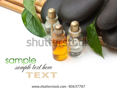 spa stone isolated on a white background - stock photo