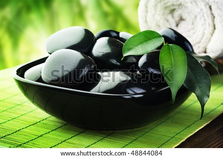 Spa Stones - stock photo