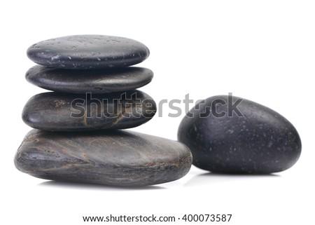 Spa stones black  - stock photo