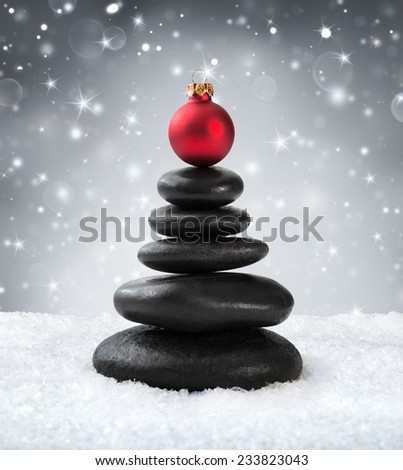 spa stones - in christmas  - stock photo