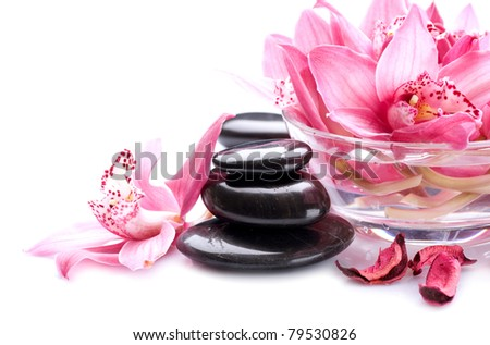Spa stones Massage - stock photo