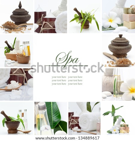 Spa theme collage composed of a few images - stock photo