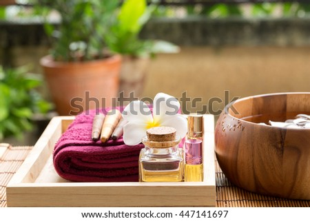 Spa treatment and aromatherapy  - stock photo