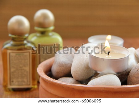 Spa treatment .beautiful spa background. Natural Cosmetics - stock photo