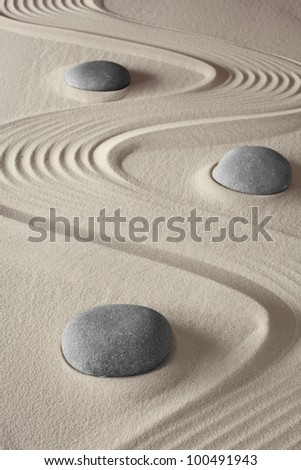 spa treatment concept japanese zen garden tao buddhism conceptual for balance harmony relaxation and meditation wellness background - stock photo