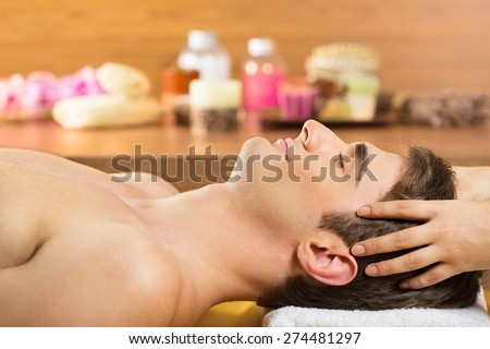 Spa Treatment, Massaging, Health Spa. - stock photo