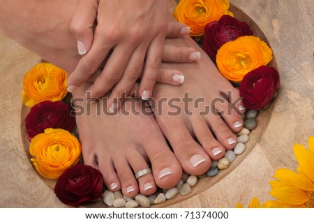Spa treatment ( pedicure) - stock photo