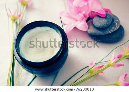 spa treatments representing wellness and beauty care - stock photo