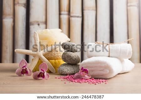 Spa, wellness composition - stock photo