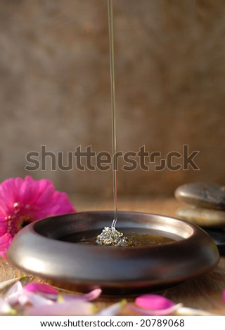 Spa with honey - stock photo
