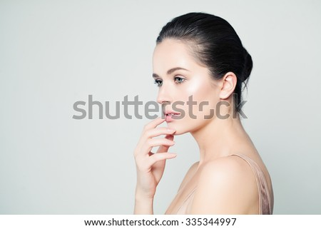 Spa Woman. Beautiful Face. Healthy Skin - stock photo
