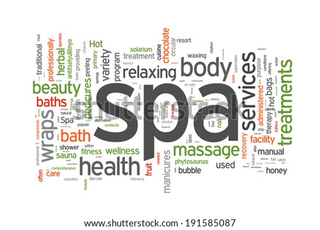 Spa word cloud  illustration on white - stock photo