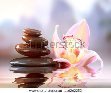 Spa Zen Stones. Harmony Concept - stock photo