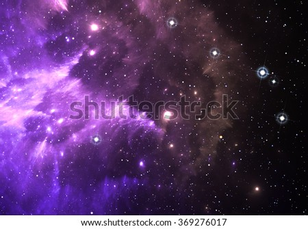 Space background with nebula and stars - stock photo