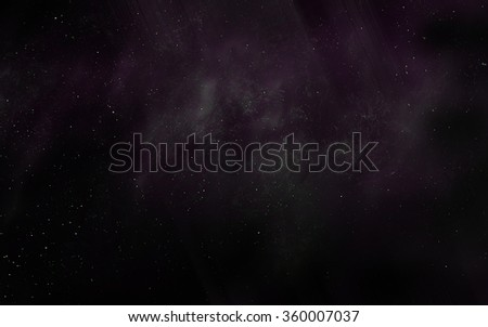 Space digital art background with realistic nebula and stars.    - stock photo