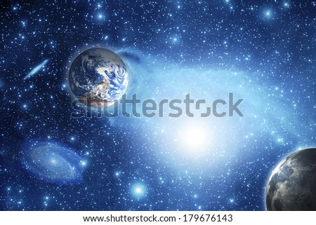 Space. Elements of this image furnished by NASA. - stock photo