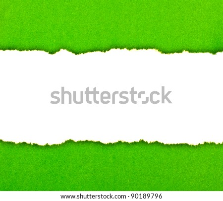 Space for your message on torn paper - stock photo