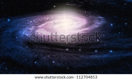 Space galaxy and star fogs - stock photo