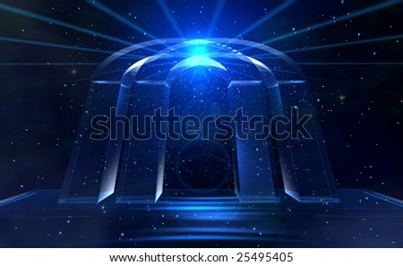 Space gate - stock photo