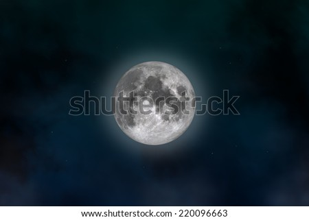Space landscape: mysterious moon (image created in Photoshop). - stock photo