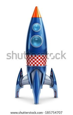 Space rocket - stock photo