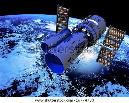 Space Satellite Telescope - stock photo