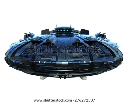 space ship - stock photo