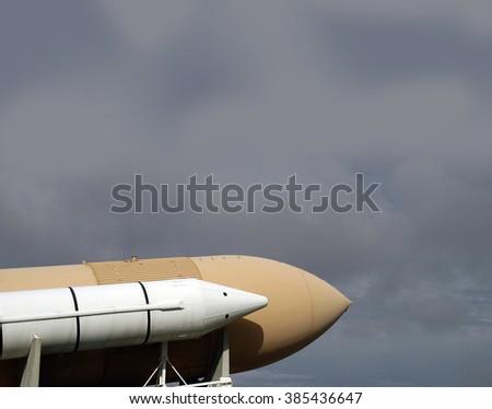 Space Shuttle Enterprise, Florida, Kennedy Space Center, USA - stock photo