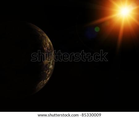 Space theme. - stock photo