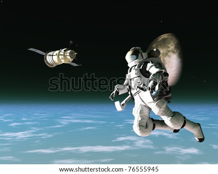 stock-photo-spacesuited-astronaut-with-satellite-in-low-orbit-76555945.jpg