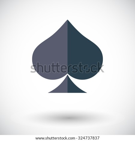 Spades icon. Flat related icon for web and mobile applications. It can be used as - logo, pictogram, icon, infographic element. Illustration.  - stock photo