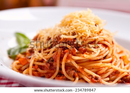 Spaghetti bolognese - stock photo