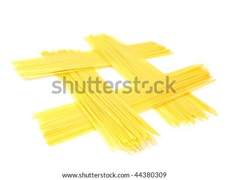 Spaghetti Isolated on White - stock photo