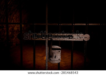Spain, Andalusia Region. Prison entrance used by Spanish Inquisition - stock photo