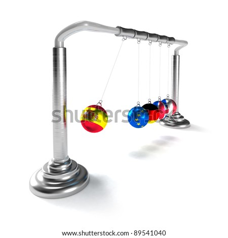 Spain economy is breaking the economies of developed countries of European Union (concept) - stock photo
