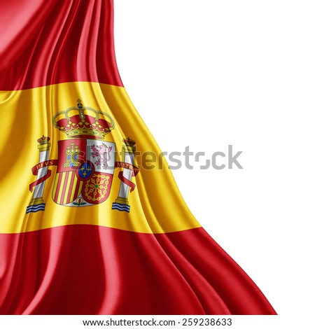 Spain flag and white background - stock photo