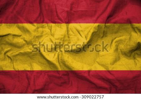 Spain flag. illustration - stock photo