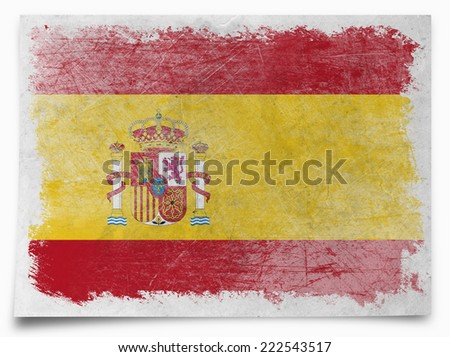 Spain grunge flag - stock photo