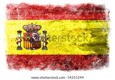 Spain grunge flag - stock photo