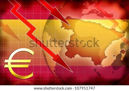 spain news crisis background information illustration - stock photo