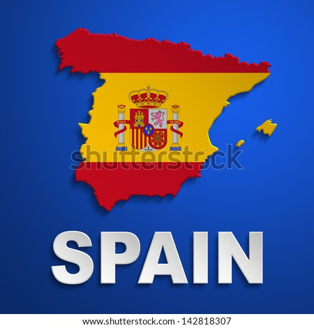 spain poster - stock photo
