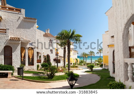 Spain real estate - stock photo