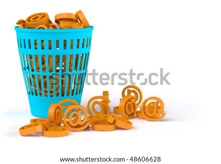Spam basket - stock photo