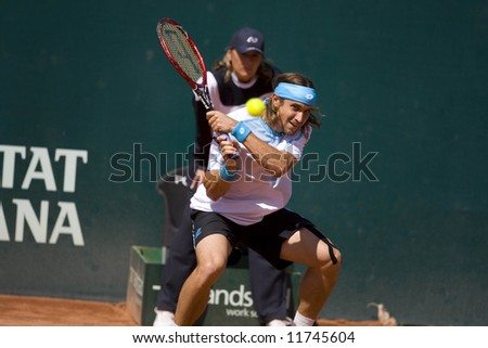 Spanish ATP Tour -Valencia City Open Tennis Championships 2008 - 2008.04.20 - David Ferrer - stock photo