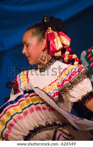 spanish dancer - soft focus - stock photo