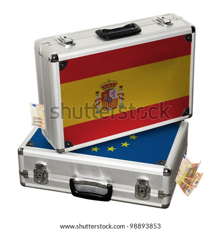 Spanish financial crisis. Financial assistance. - stock photo