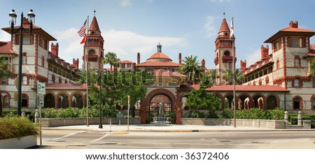 Spanish Historical Building St Augustine Florida - stock photo