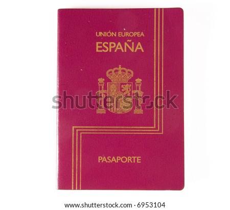 Spanish passport - stock photo