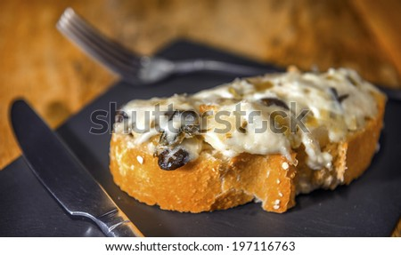 Spanish pintxo or pincho, montadito and tapas, from Basque Country - stock photo