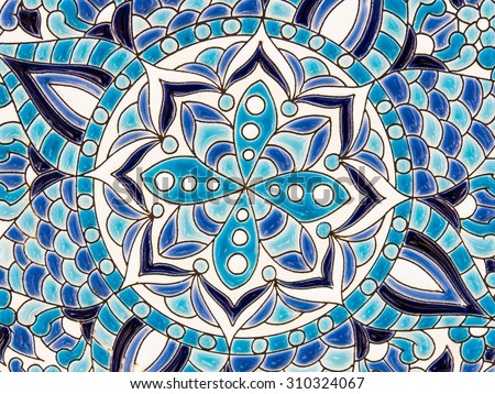 spanish tile - stock photo